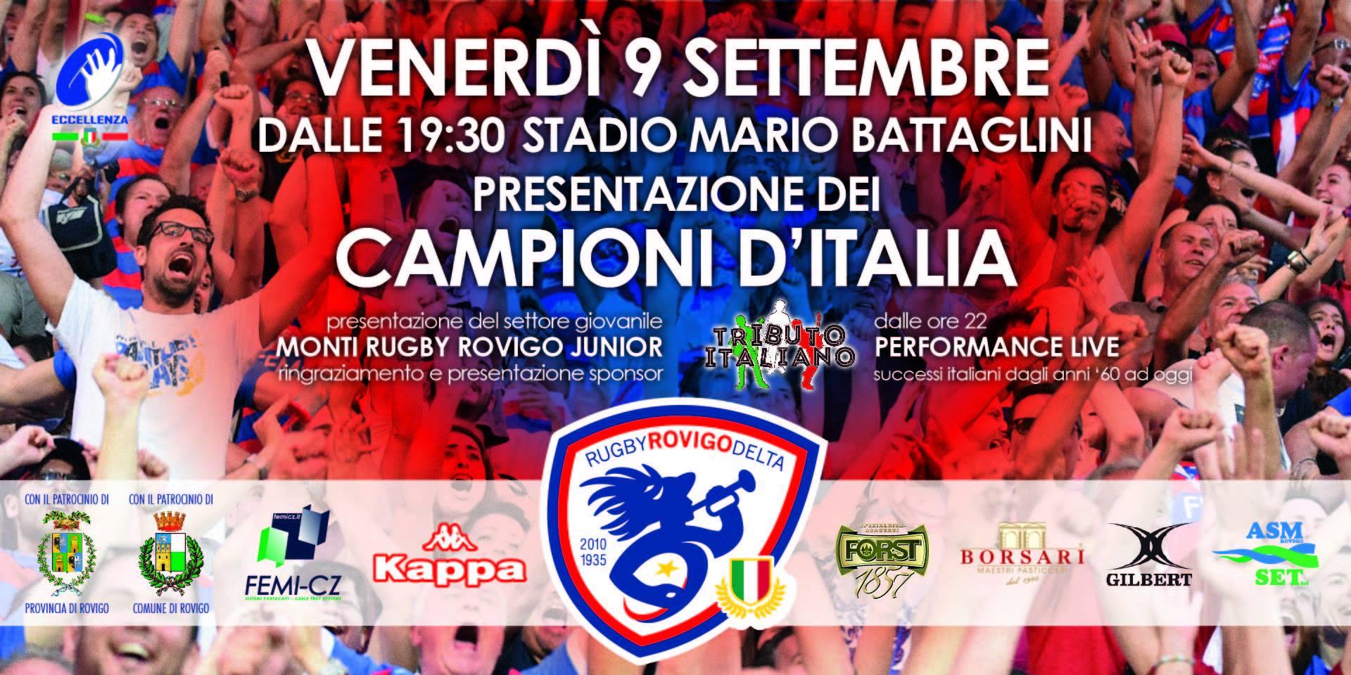 Presentazione Rugby Rovigo Delta 2016/2017