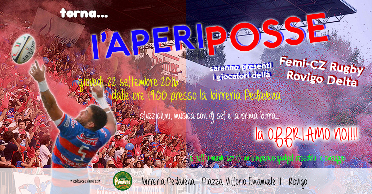 """""""AperiPosse"""", apertura straordinaria sede, trasferta a Reggio Emilia del 01/10/2016"""